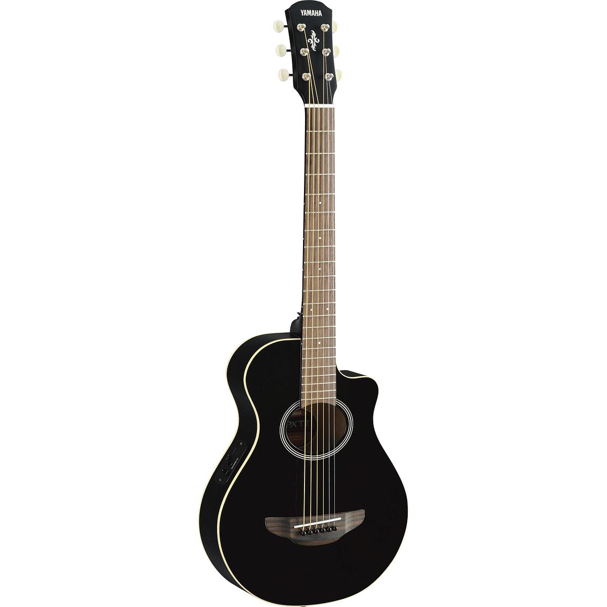 Yamaha 3/4 Size Acoustic Electric Cutaway Guitar w/Gigbag- Black