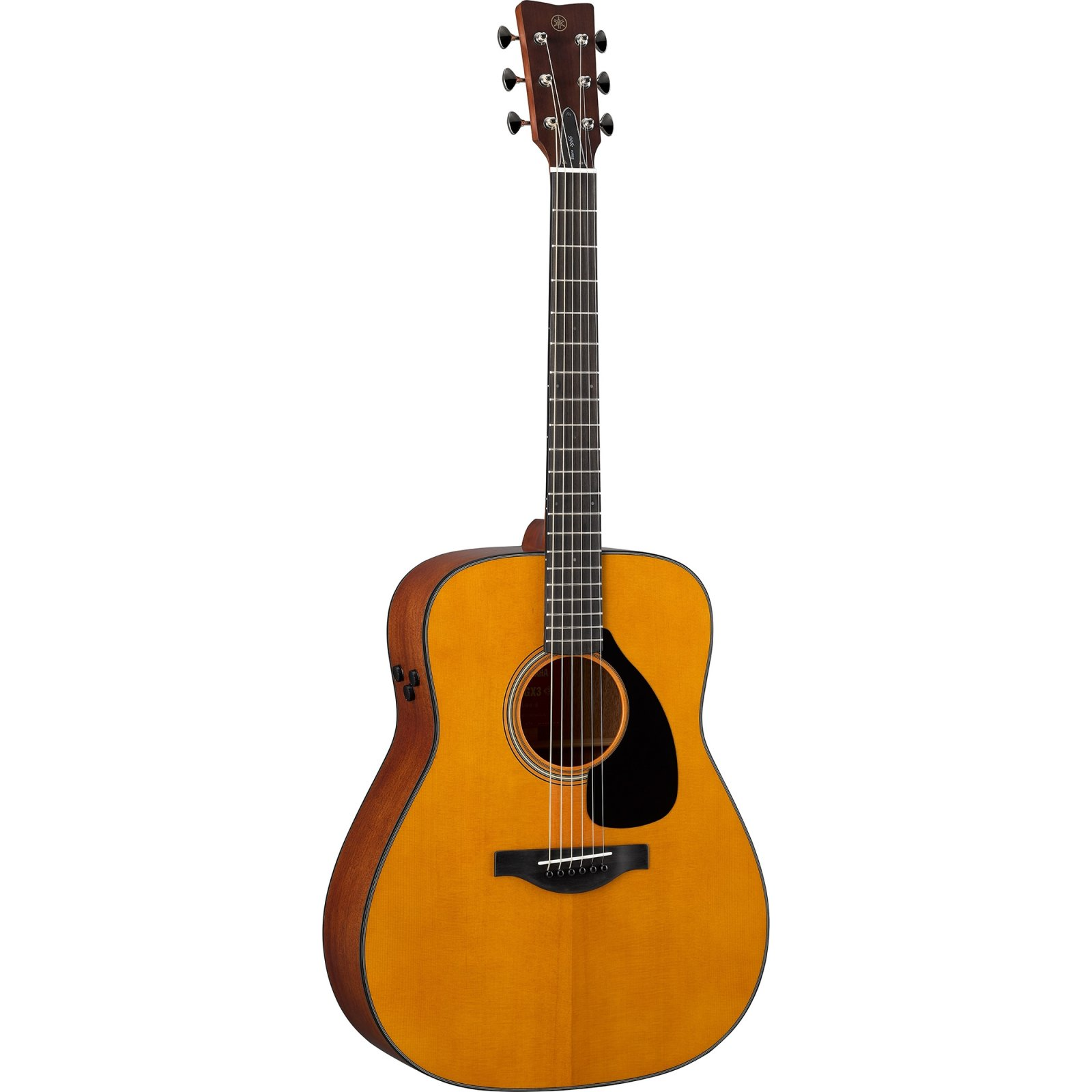 Yamaha FGX3 Red Label Acoustic-Electric Guitar w/Solid Spruce Top, Solid Mahogany B/S, Blackwood FB, Hard Bag-Natural