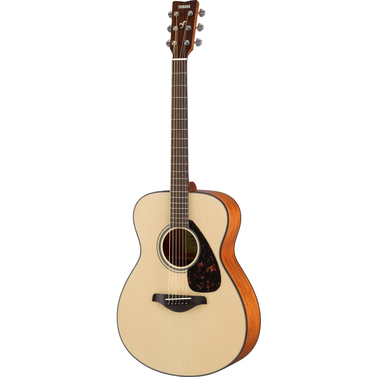 Yamaha FS800 Small Body Folk Guitar - Solid Top Spruce, Mahogany Sides, Nato Back -Natural