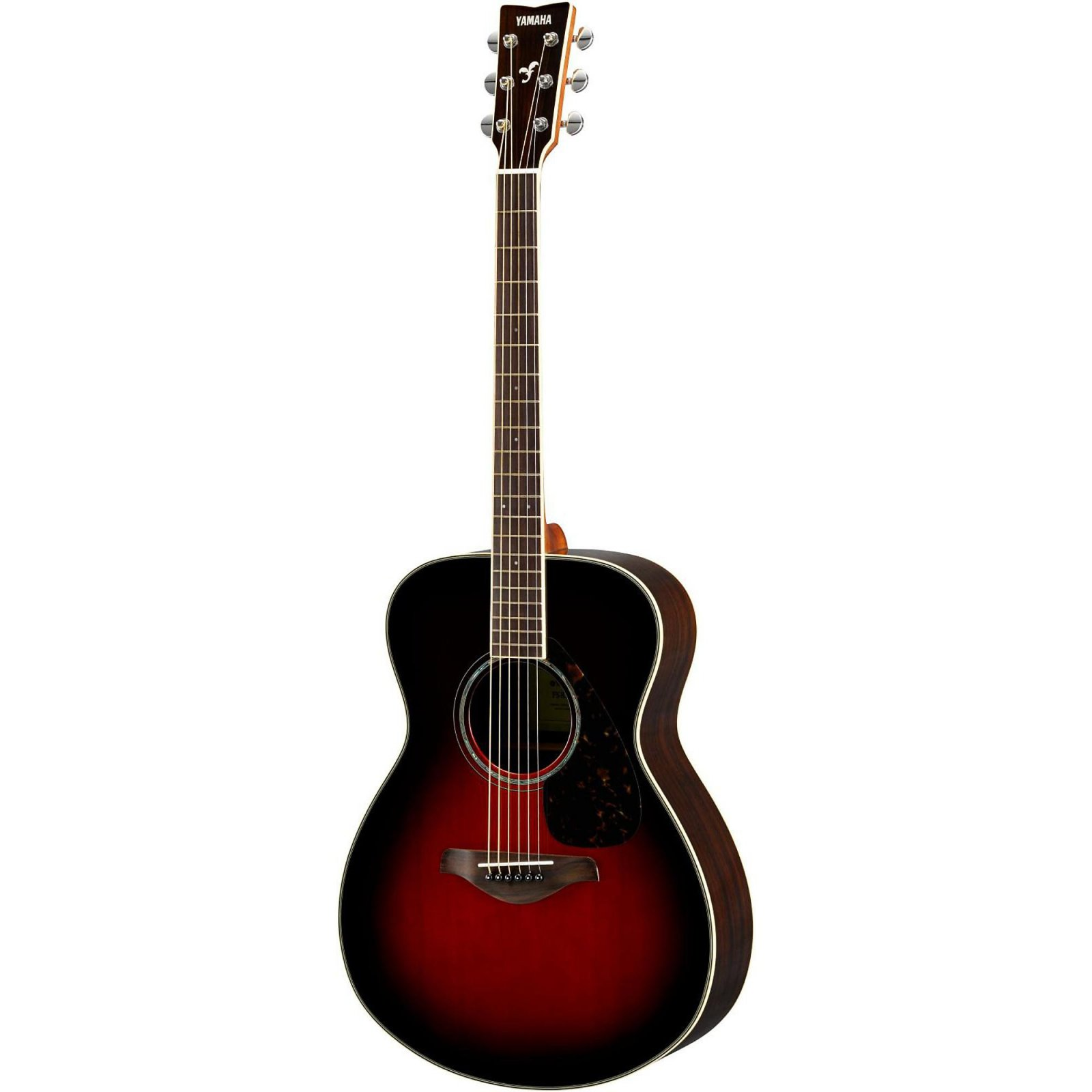 Yamaha FS830 Solid Top Small Body Acoustic Guitar-Sitka Spruce Top, Rosewood B/S -Tobacco Sunburst