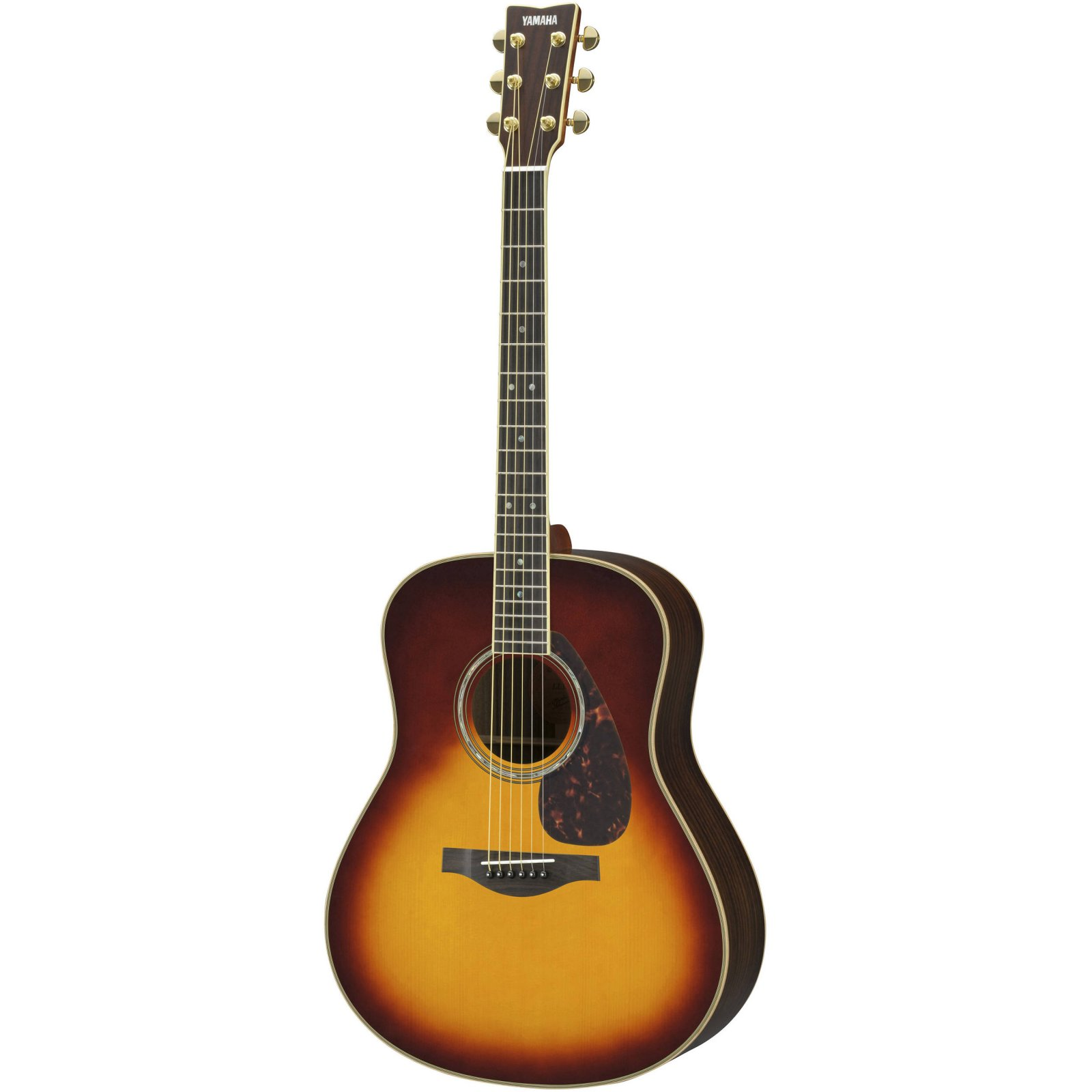 Yamaha LL16BSHB L Series Dreadnought Acoustic Guitar w/Solid Engleman Spruce Top Solid Rosewood B/S-Brown Sunburst w/Hard Bag