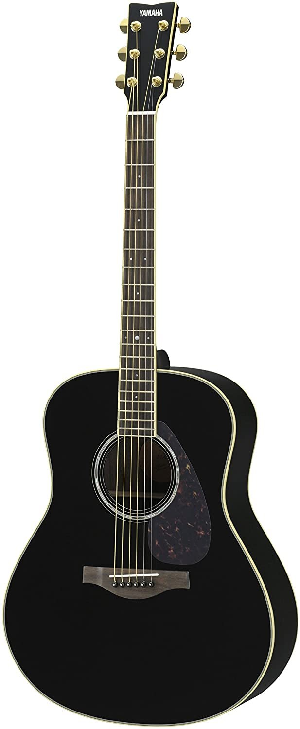 Yamaha LL6R L Series Dreadnought Acoustic-Electric Guitar Solid Engleman Spruce Top, Rosewood B/S  Black