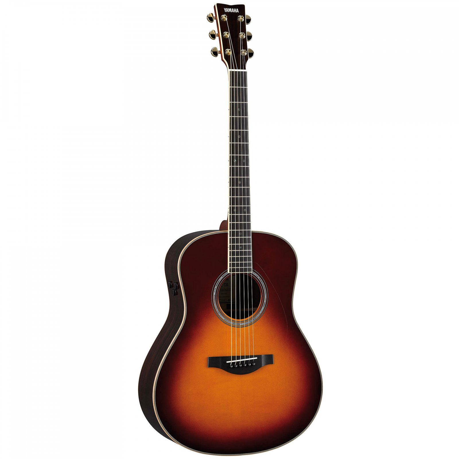 Yamaha Trans-Acoustic Concert Guitar w/Solid Engleman Spruce Top w/ARE, Solid Rosewood B/S, Brown Sunburst w/HardBag,