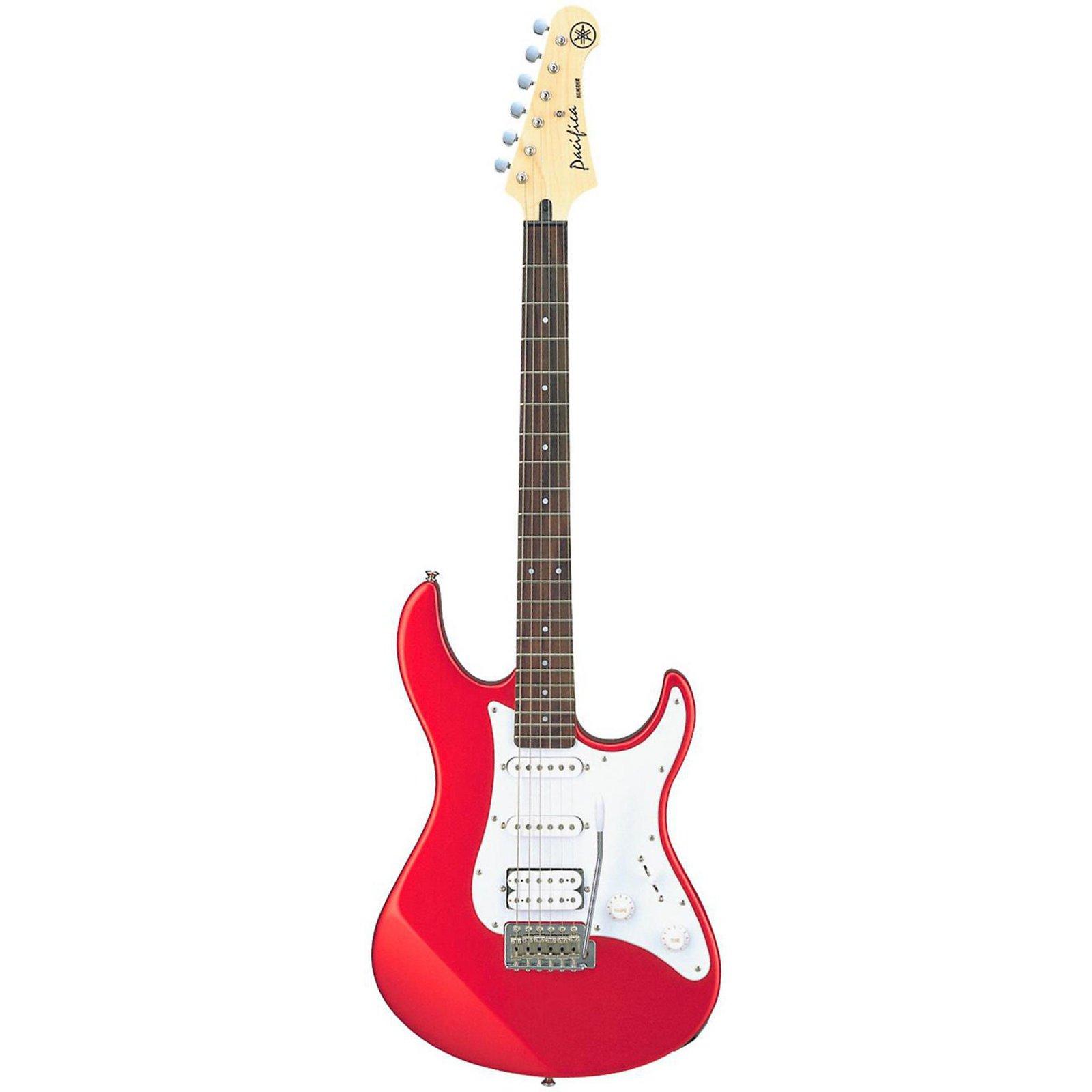 Yamaha Pacifica Electric Guitar w/Agathis Body, Maple Bolt-On Neck, Sonokeling FB, 1 Humbucking/2 Single Coil PU w/Tremolo Bar-Metallic Red