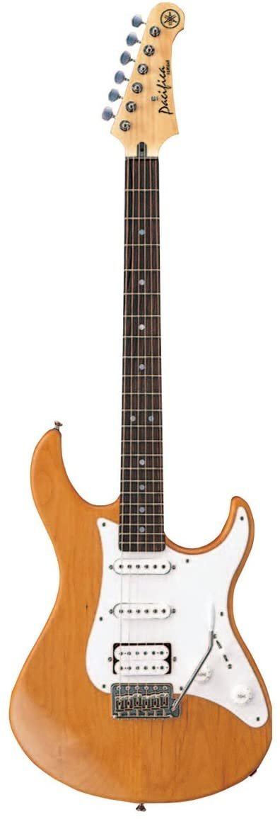 Yamaha Pacifica Electric Guitar w/Solid Alder Body, Maple Neck, Rosewood FB, One Humbucking/2 Single Coil Pickups, Tremolo Bar-Natural