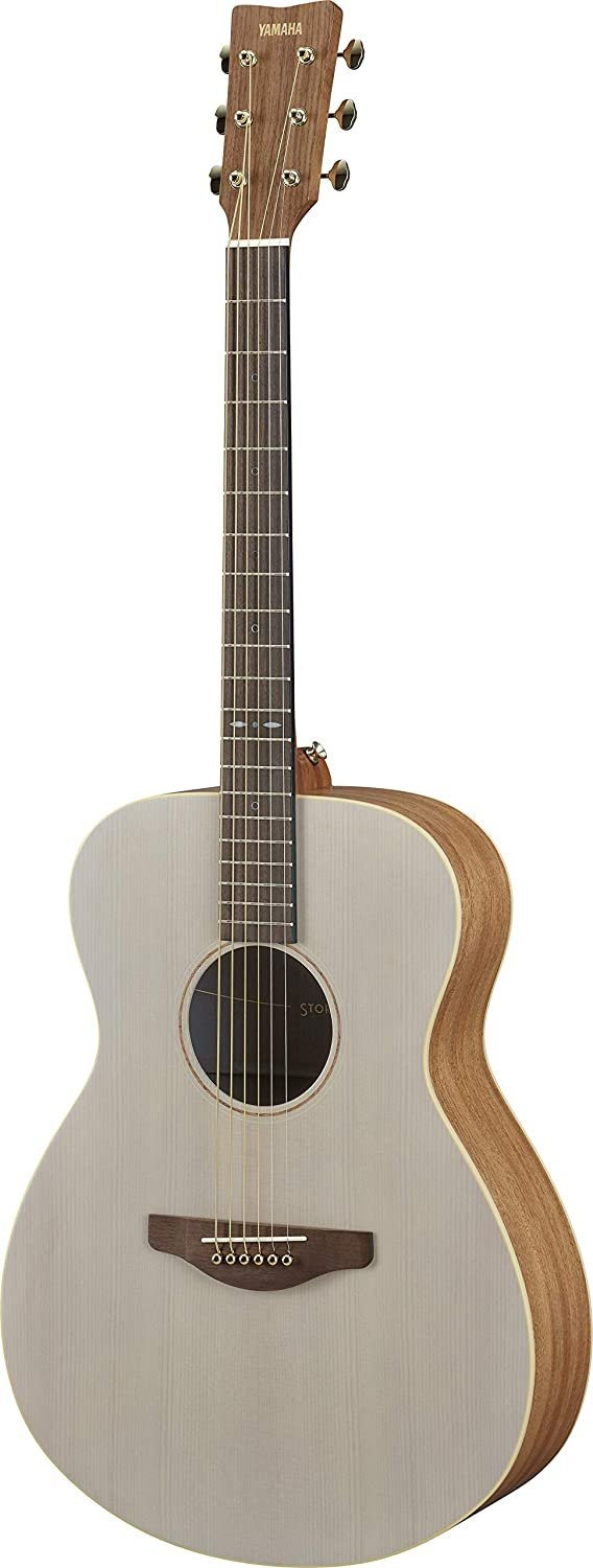 Yamaha Storia I Small Body Guitar - Solid Top Spruce, Mahogany BS, Passive Pickup, Off-White Top