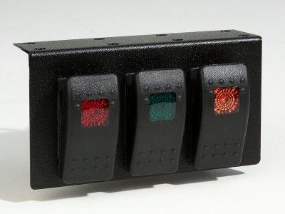 Universal Under Dash Carling Contura 3 Switch Panel Jeep rock off road marine  Illuminated