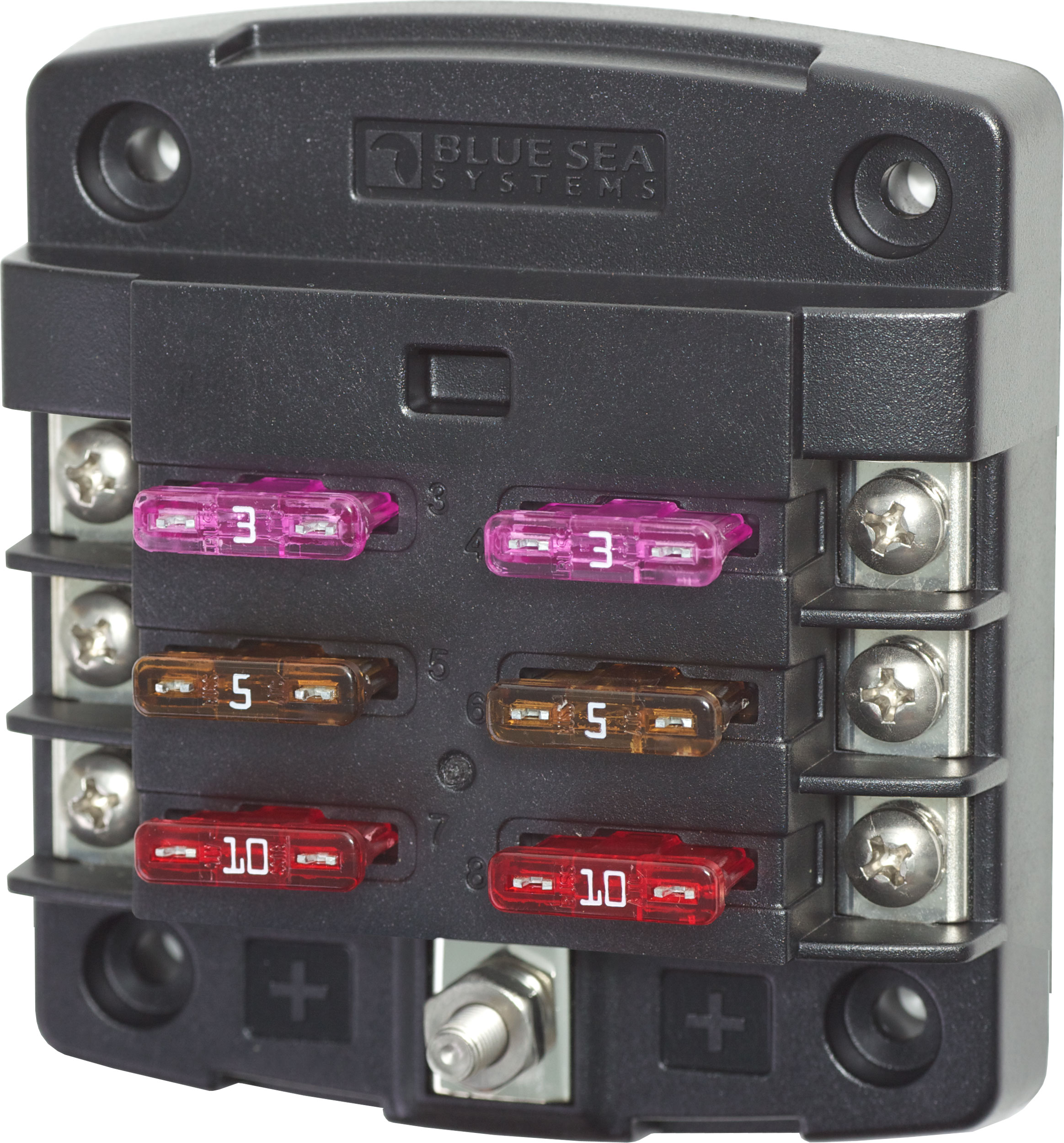 Blue Sea ST Blade Fuse Box 6 circuits with cover BS5028