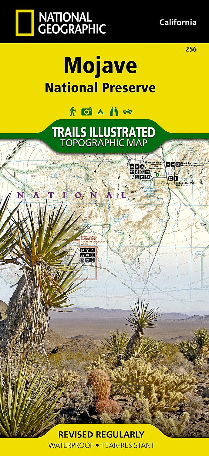 Mojave National Preserve - National Geographic Trails Illustrated Map