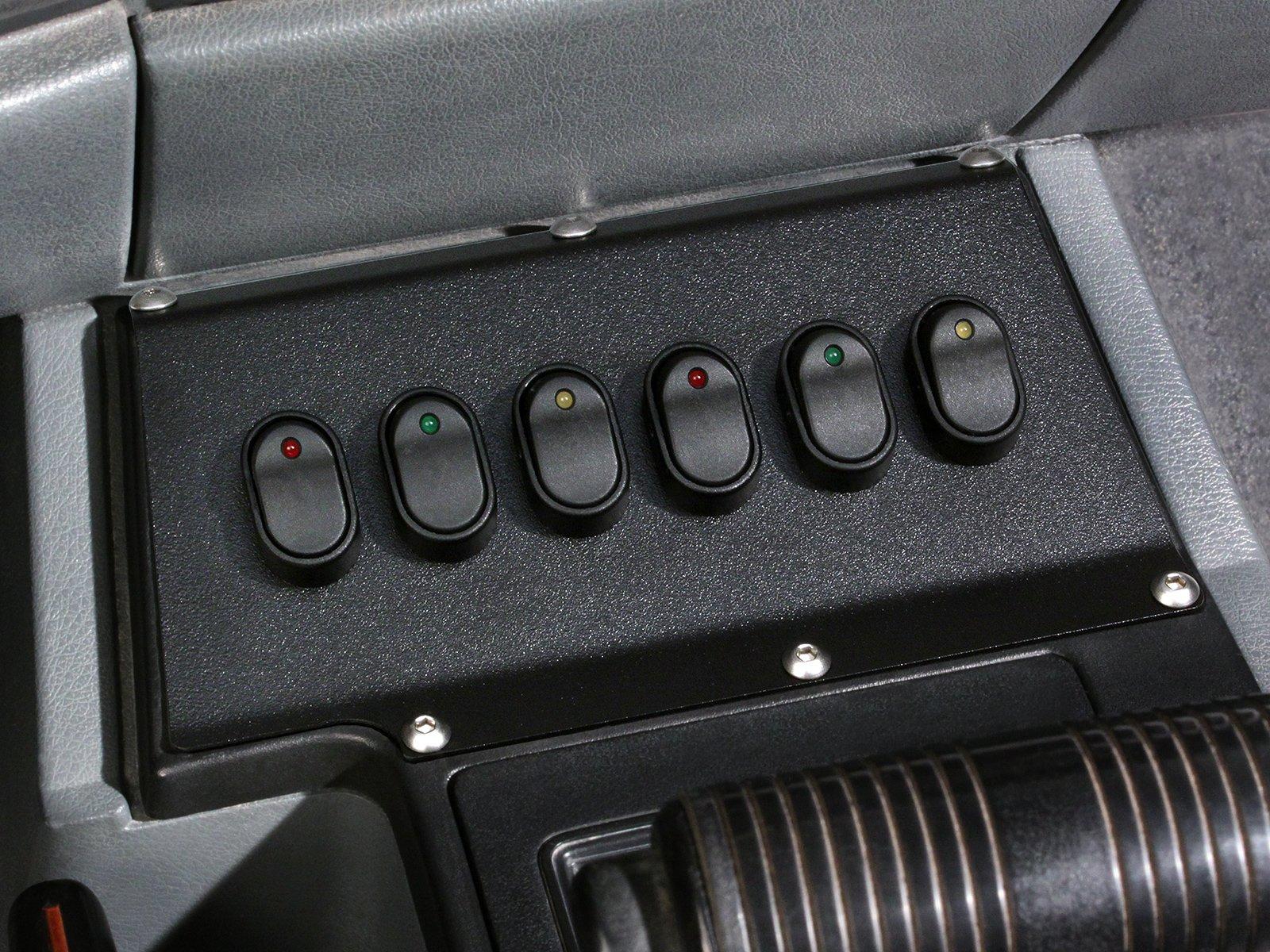 84 - 96 Jeep Cherokee 12 Volt 6 LED Rocker Switch Panel
