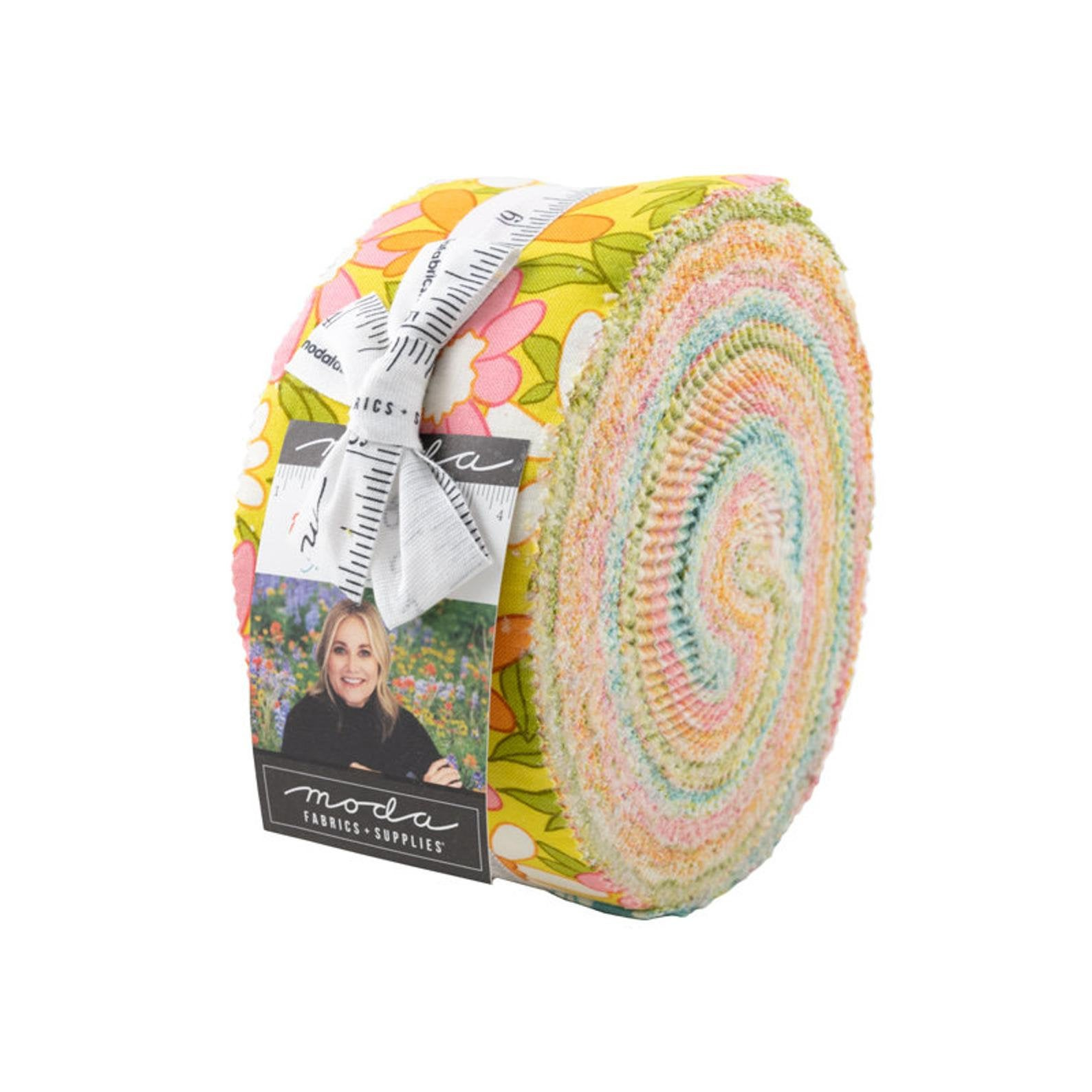 A Blooming Bunch, Jelly Roll, 40046JR, 40 2.5 x 44 Pieces by Maureen McCormick for Moda Fabrics