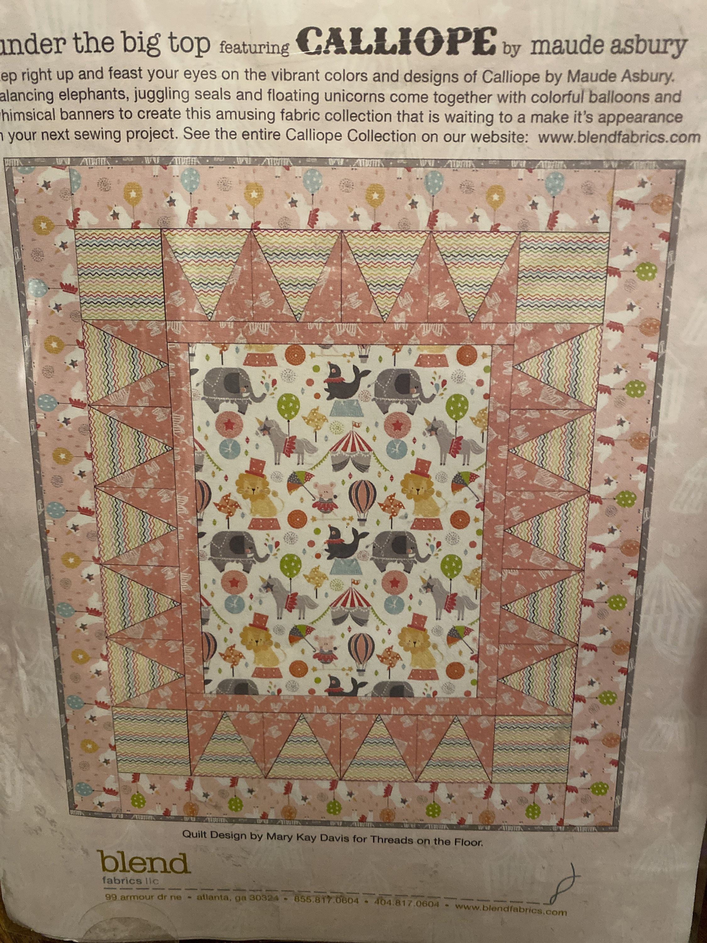 Baby Girl Quilt Kit-includes pattern and all fabric for top, back and binding