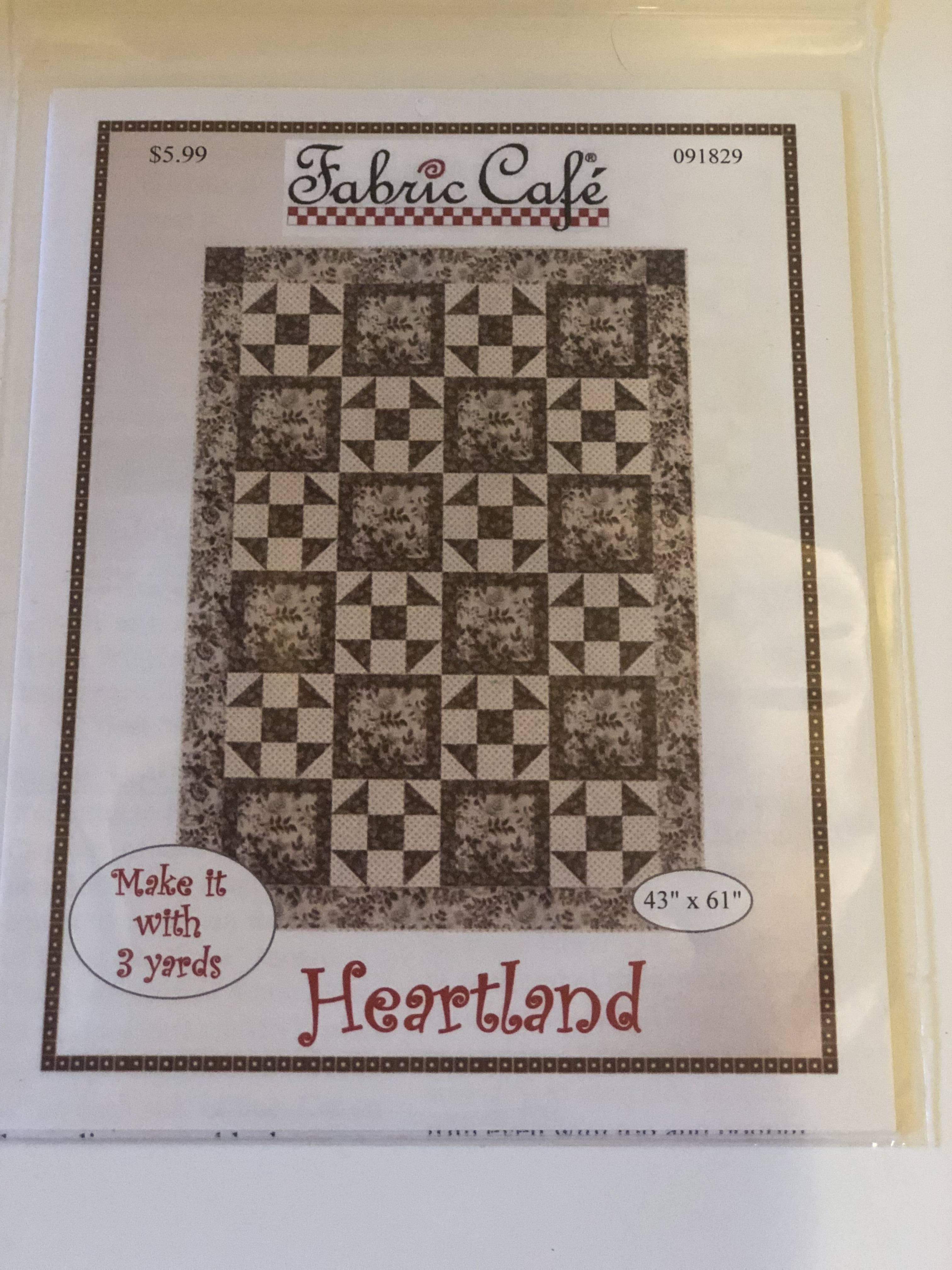 3 yard quilt pattern-Heartland