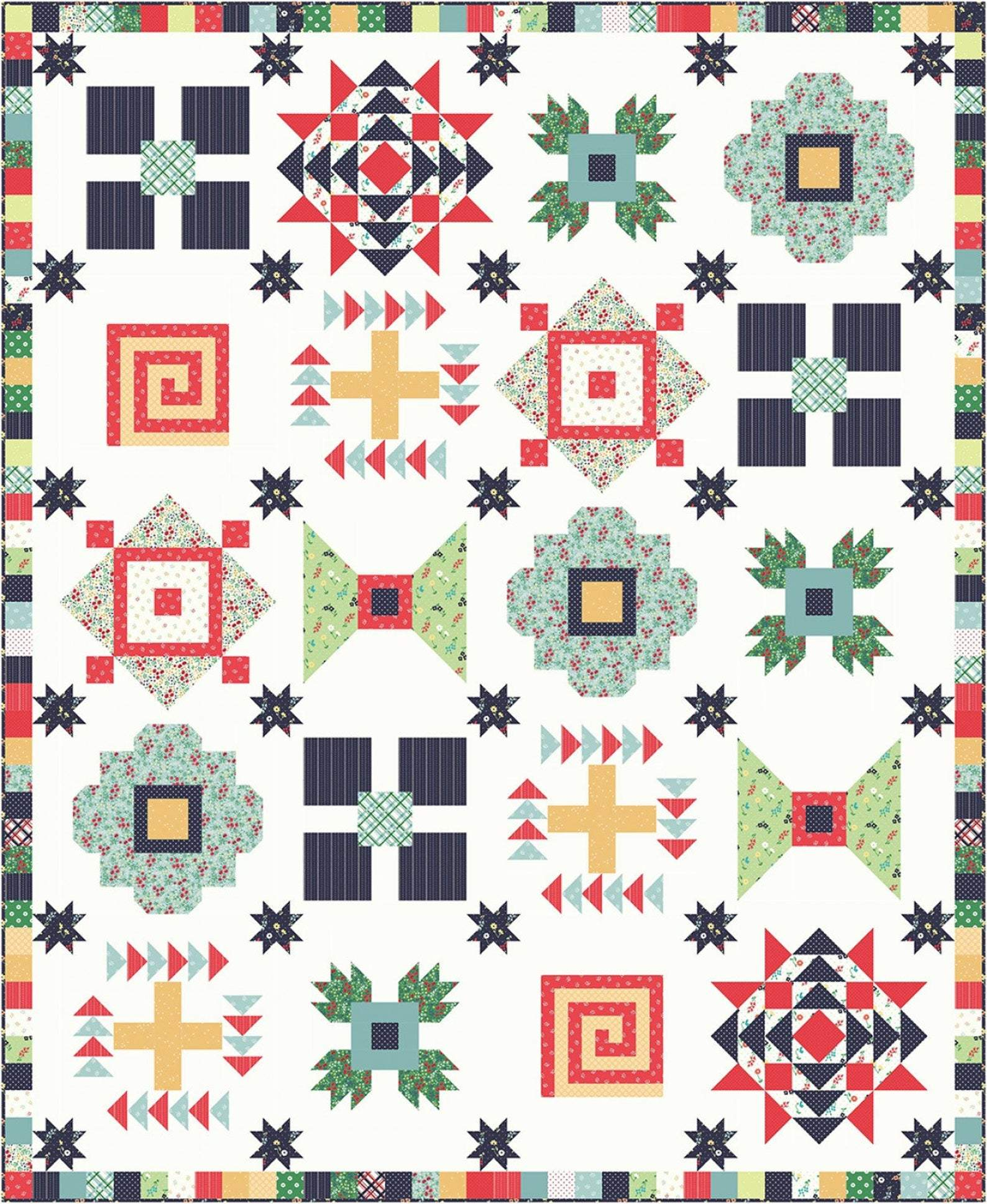 Sugar House Picnic Quilt Kit, 72 x 85, Riley Blake, Amy Smart, KT0216