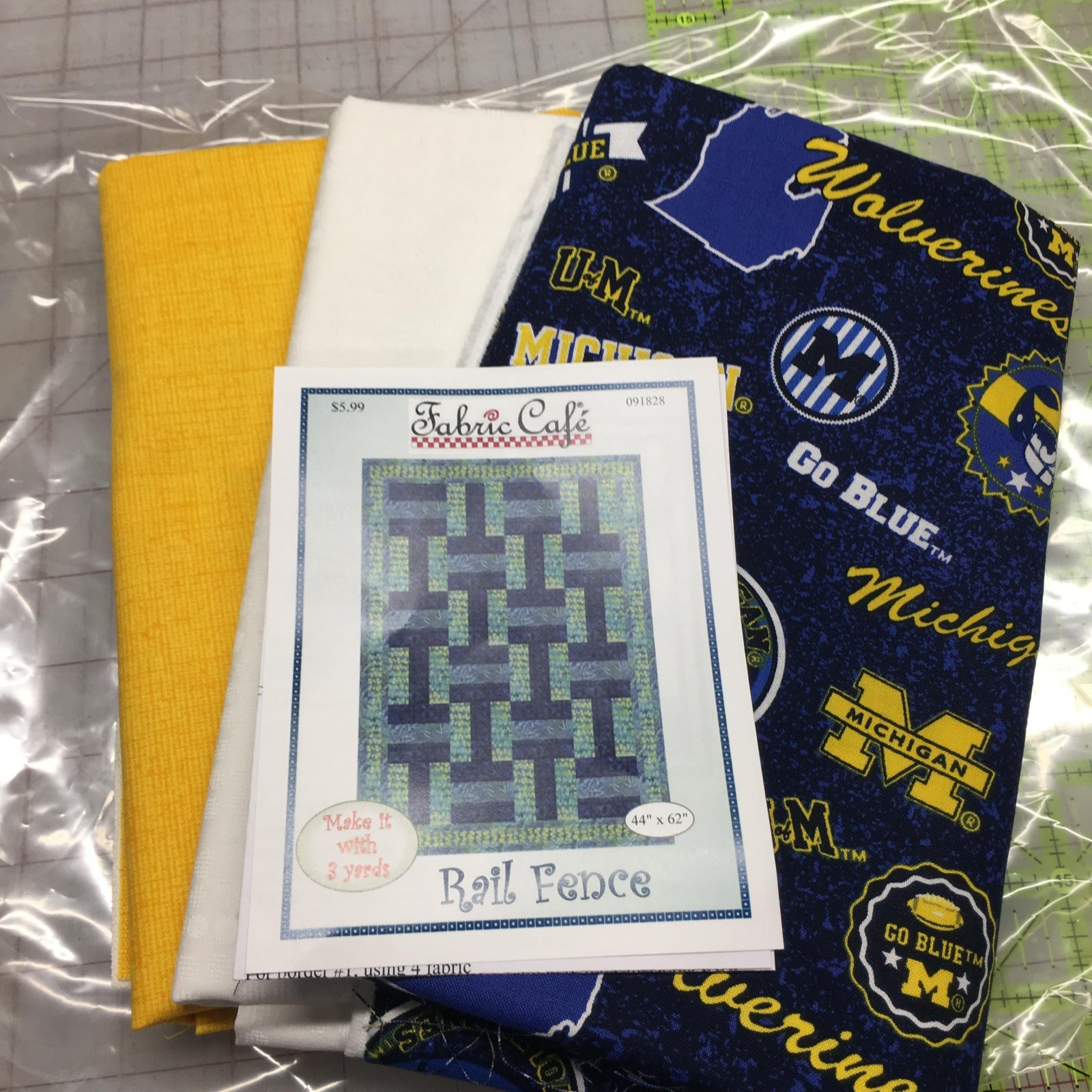 Michigan Wolverines 3 yd Quilt Kit
