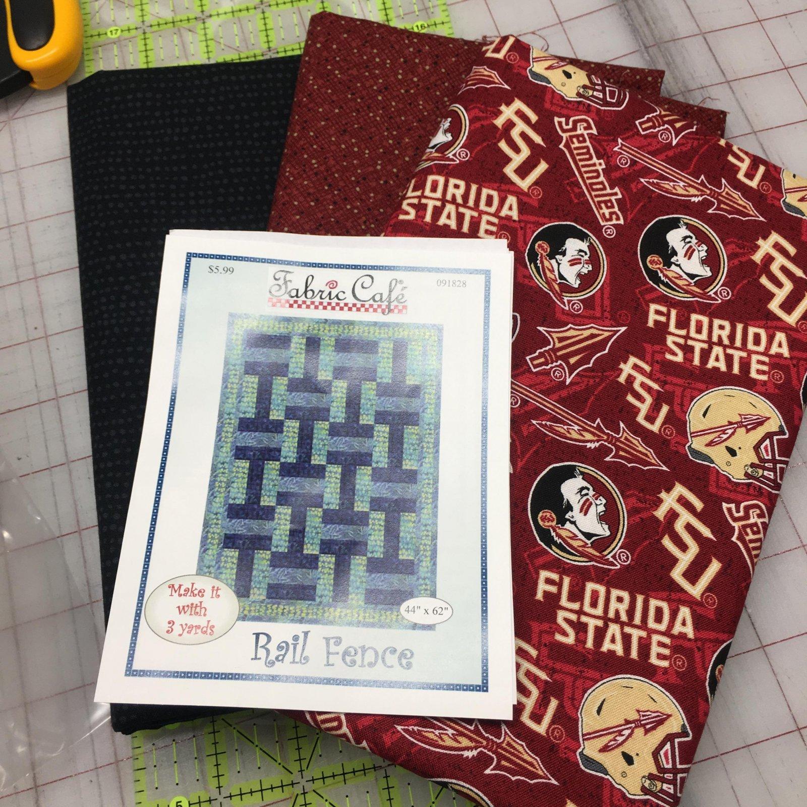 Florida State Seminole 3 yd Quilt Kit