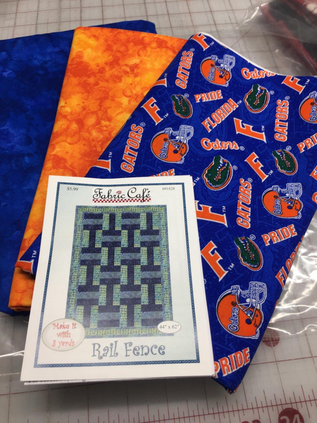 Florida Gators 3 yd Quilt Kit