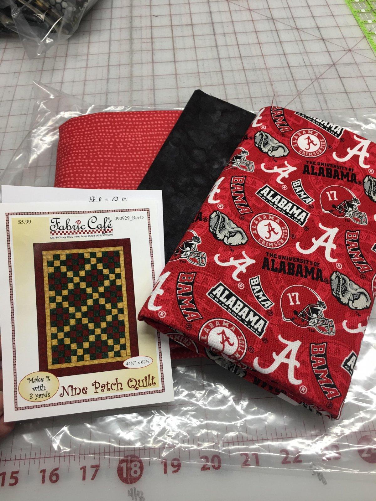 Alabama Crimson Tide 3 yd Quilt Kit
