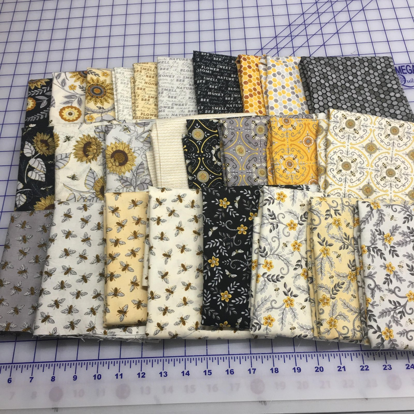 Bee Grateful 1/2 yd bundle- 26 diff prints