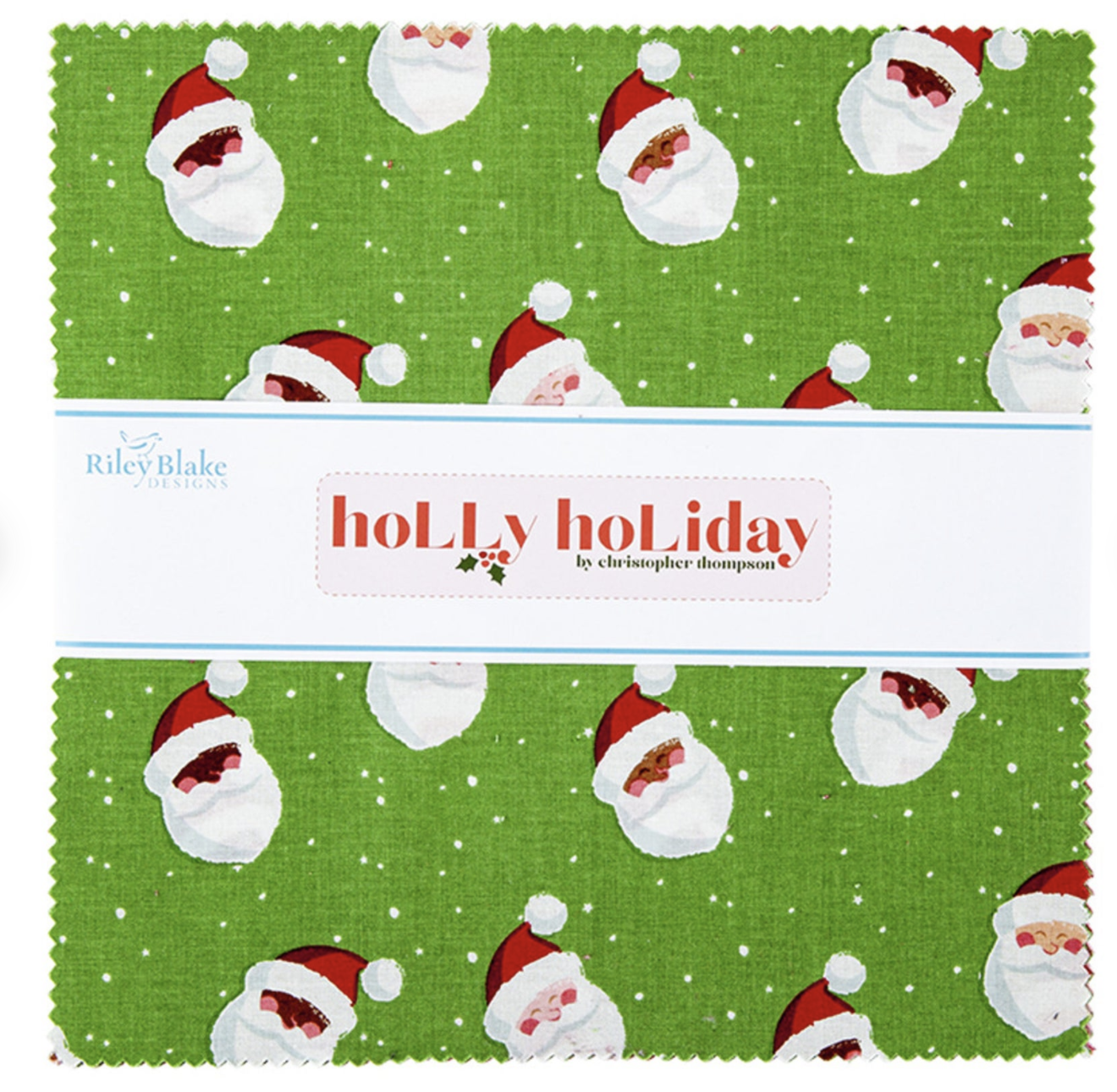 Holly Holiday 10in Squares, 42pcs/bundle
