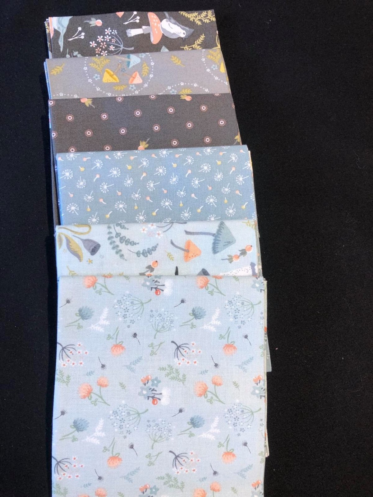 Woodland Songbirds Fat Qt bundle 6 each