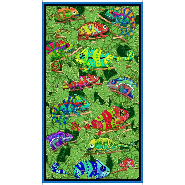 Color Me Chameleon by Desiree's Designs 24 x 44 Panel
