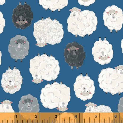 State Fair series Tossed Sheep from Windham Fabrics 100% Cotton