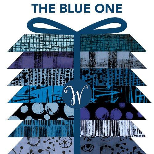 The Blue One by Marcia Derse Random Shapes FQ Bundle