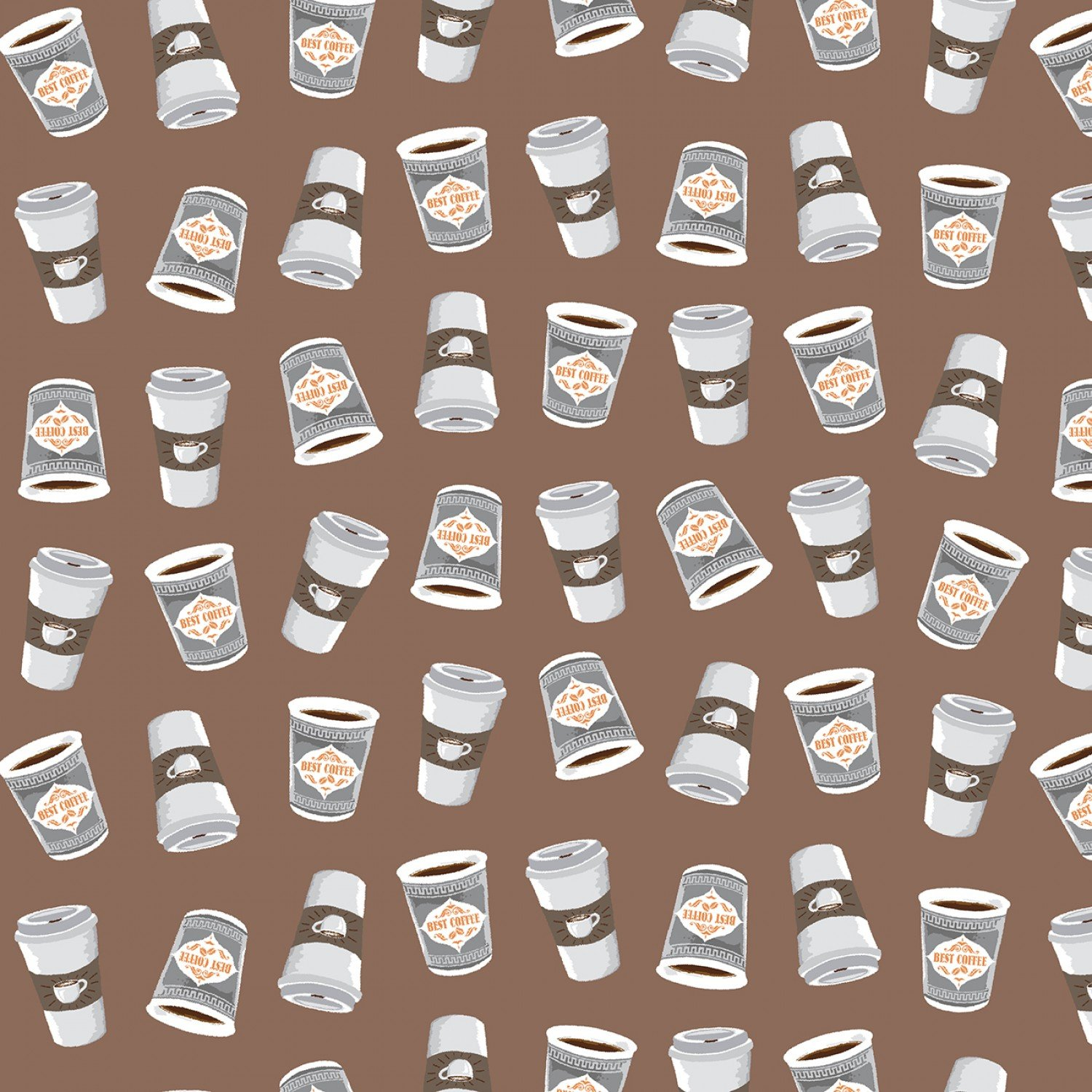 Coffee Shop from Windham Fabrics 100% Cotton Cups of Espresso