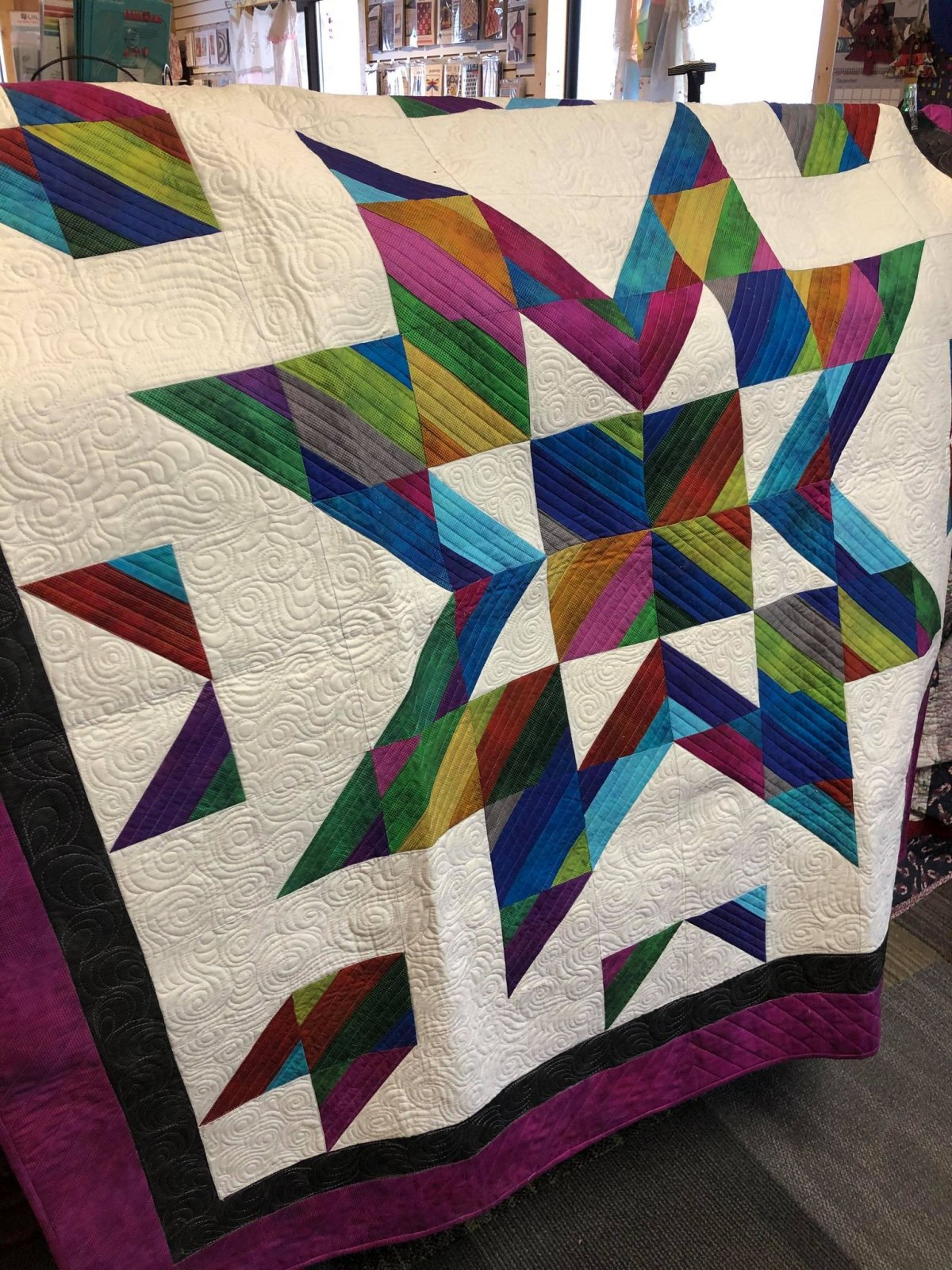 Almost Alone Star Lap Quilt