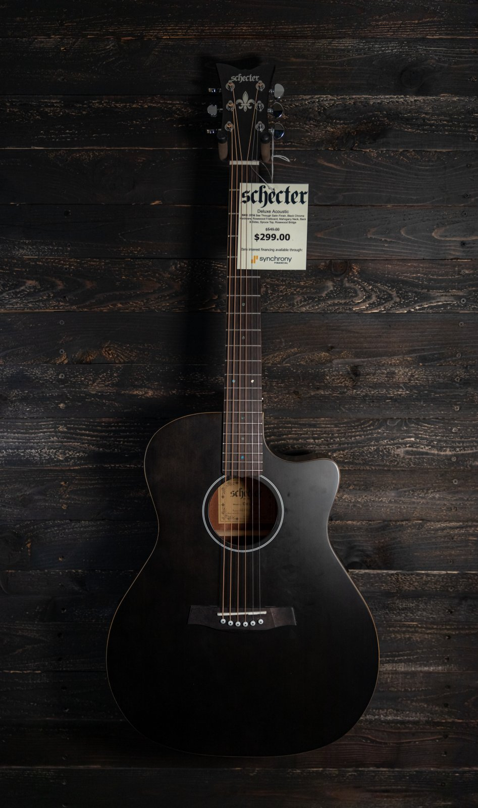 Schecter Deluxe Acoustic Satin See Thru
