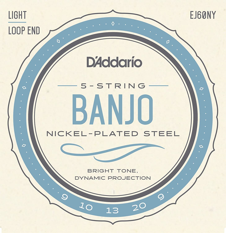D'Addario 5 String Banjo Strings 9-20 Light
