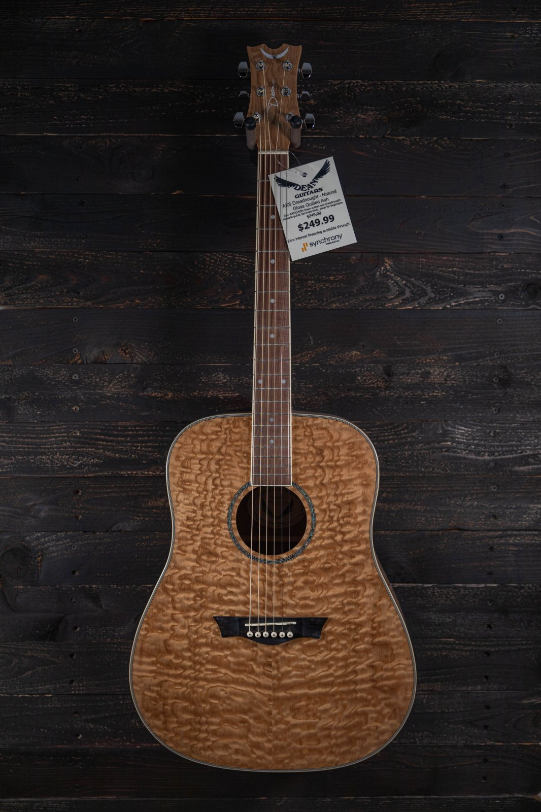Dean AXS Dreadnought - Quilted Ash - Glo