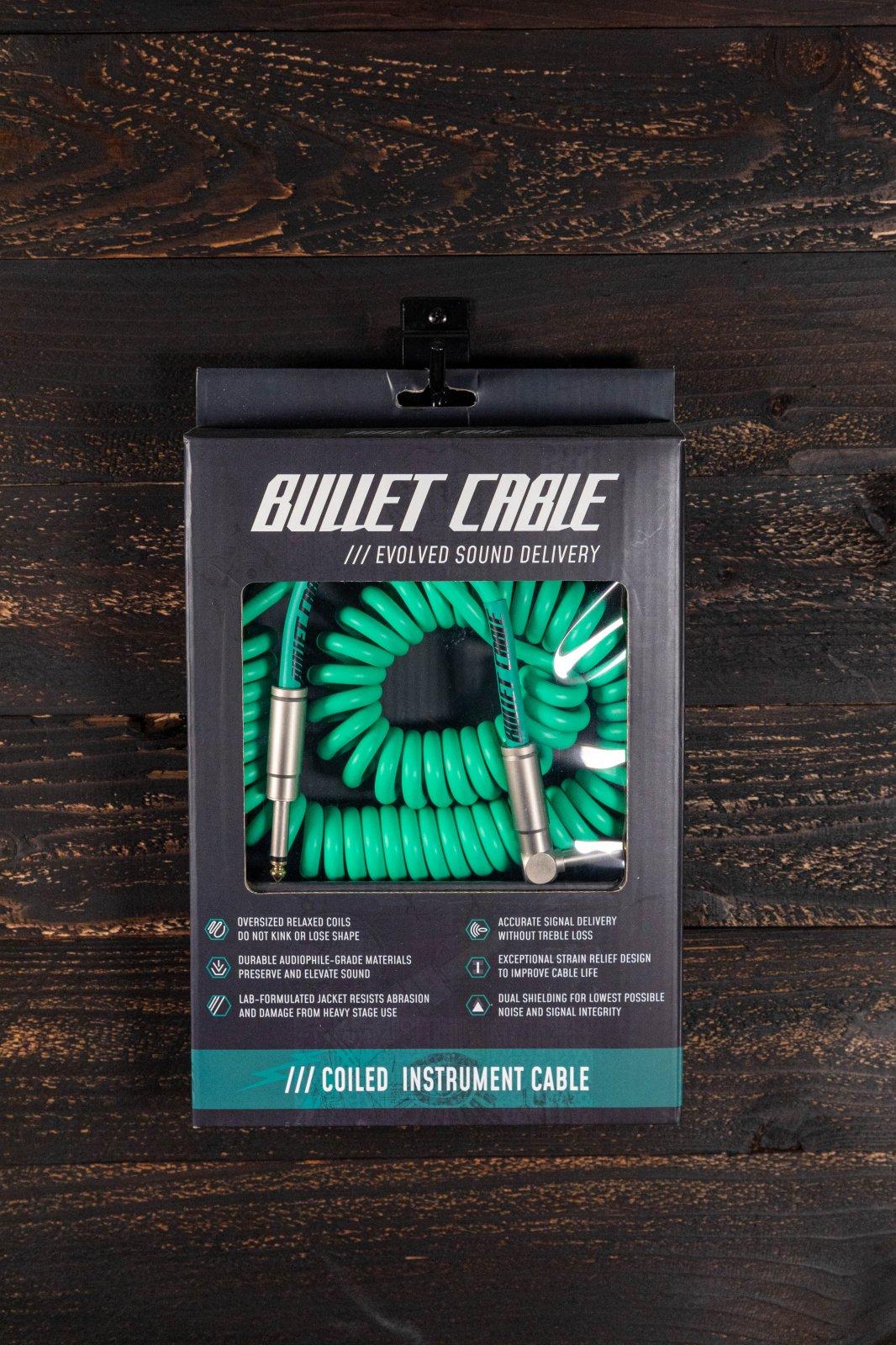 Bullet Cable 15' Coil Cable - Seafoam