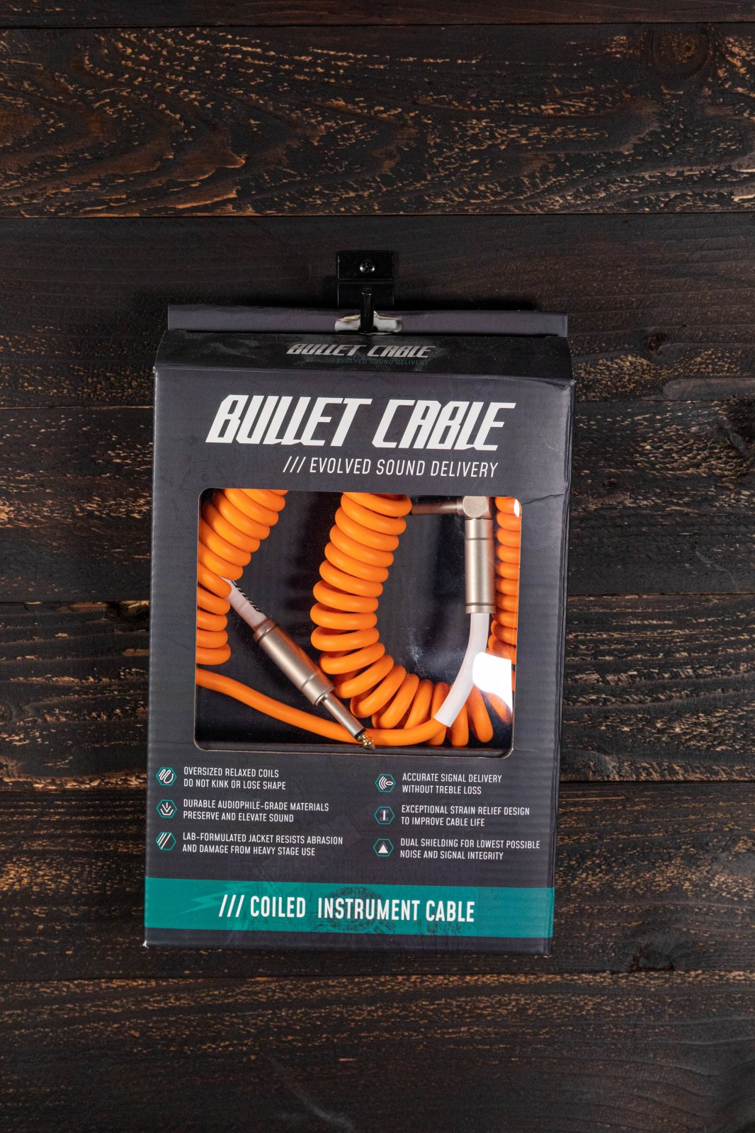 Bullet Cable 15' Coil Cable - Orange