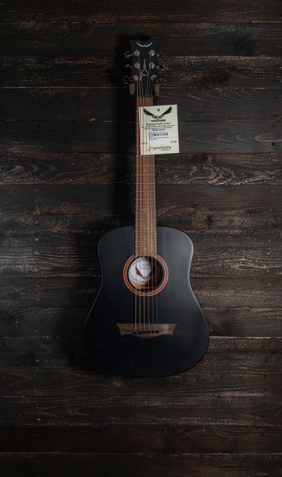 Dean Flight Travel Guitar w/Bag - Black