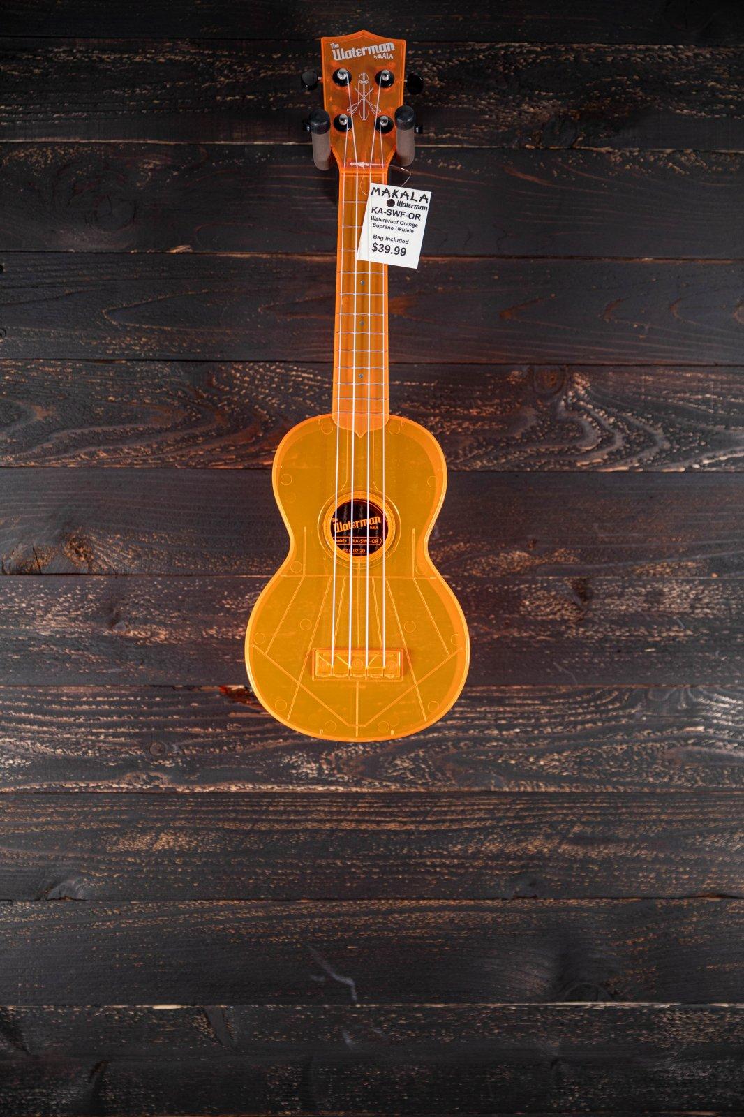 Kala Waterman Orange Soprano Ukulele