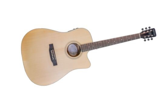 Nashville Guitar Works Dreadnought Acoustic Cutaway A/E Guitar (Natural)