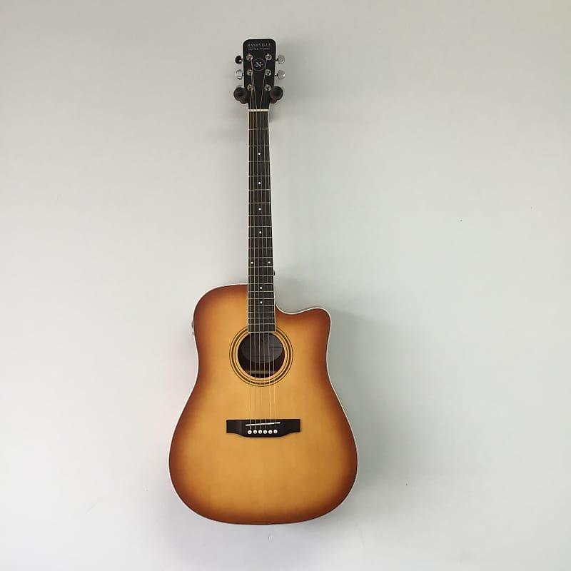 Nashville Guitar Works Edgeburst Dreadnought Cutaway A/E w/ Case