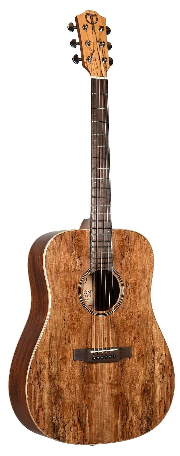 Exotic Top Spalted Maple Dreadnought