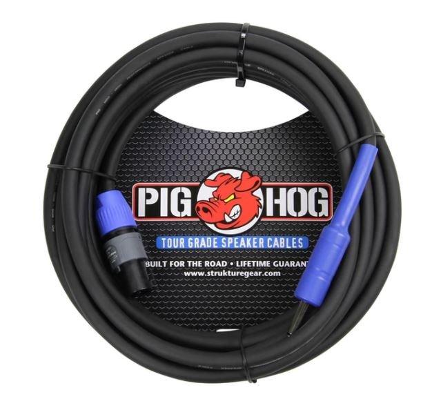 Pig Hog 25 FT Speaker Cable SPKON to 1/4