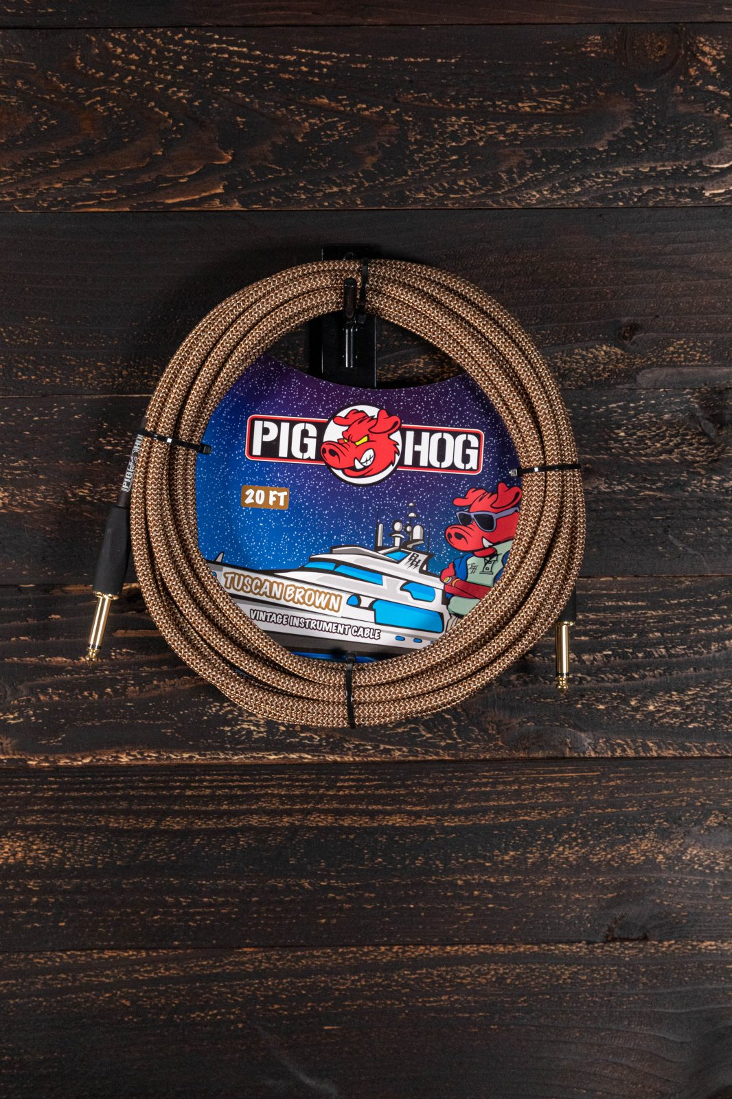 Pig Hog Tuscan Brown 20ft Instrument Cable