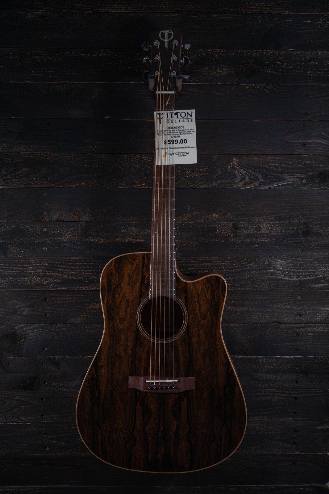 Teton STS000ZIGCE Dreadnought A/E Guitar
