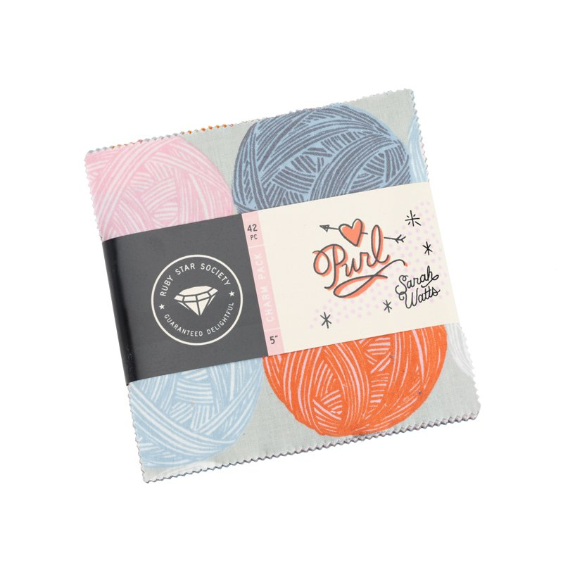 Ruby Star Society Purl Collection - 42 Piece Charm Pack Bundle by Sarah Watts for MODA Fabrics - 5 x 5 Quilt Squares - RS2029PP