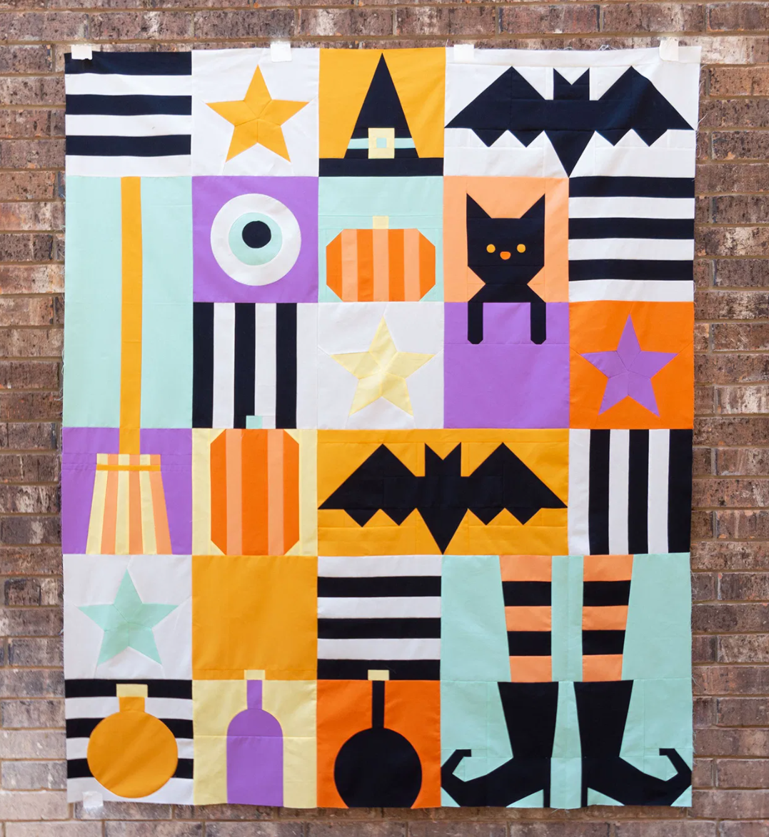 Corinne Sovey Patterns - Hocus Pocus, Quilt Pattern with Templates