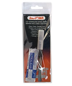 Janome Scissors/Snips - 5.5 Stainless Steel Surgical Seam Ripper w/3 Blades