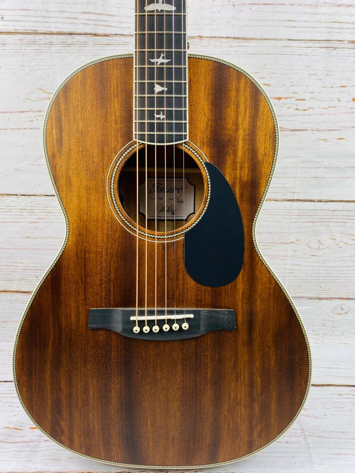 PRS Paul Reed Smith SE P20E Parlor Acoustic-Electric Guitar Vintage Mahogany