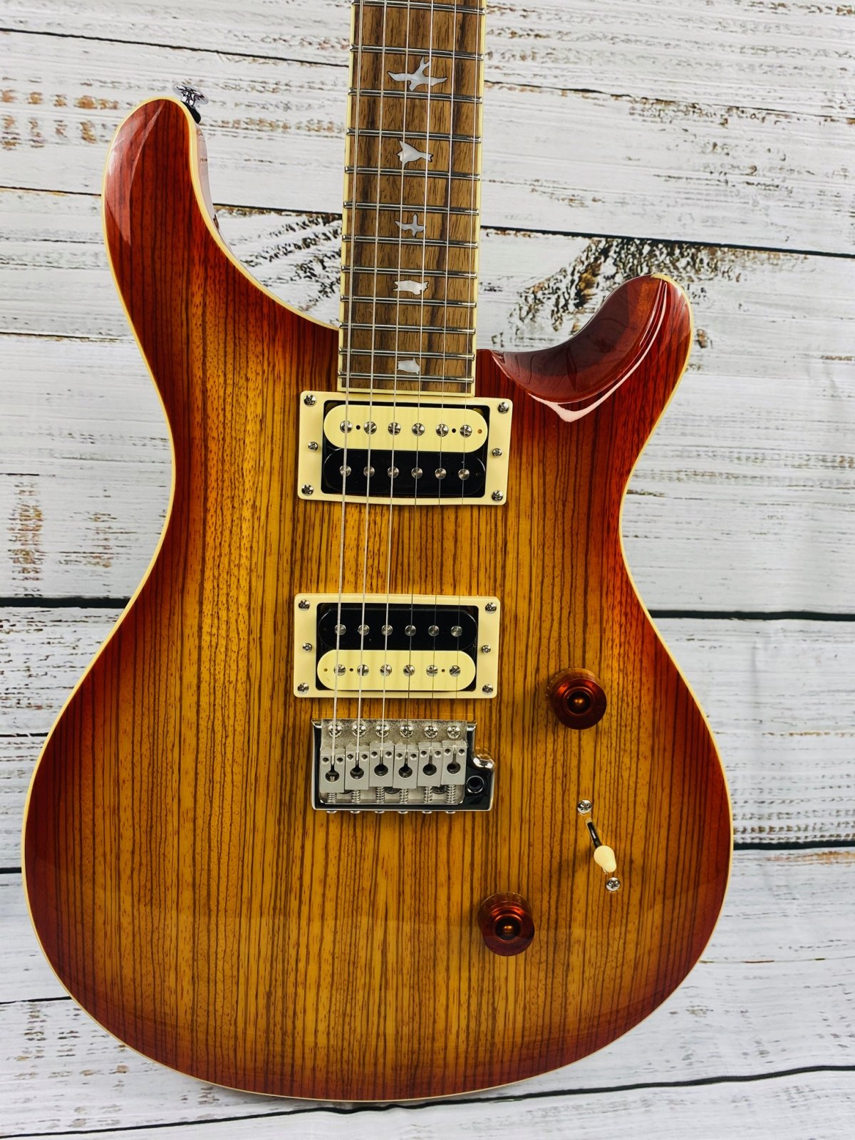 PRS SE Custom 24 Exotic Top Zebrawood Vintage Sunburst