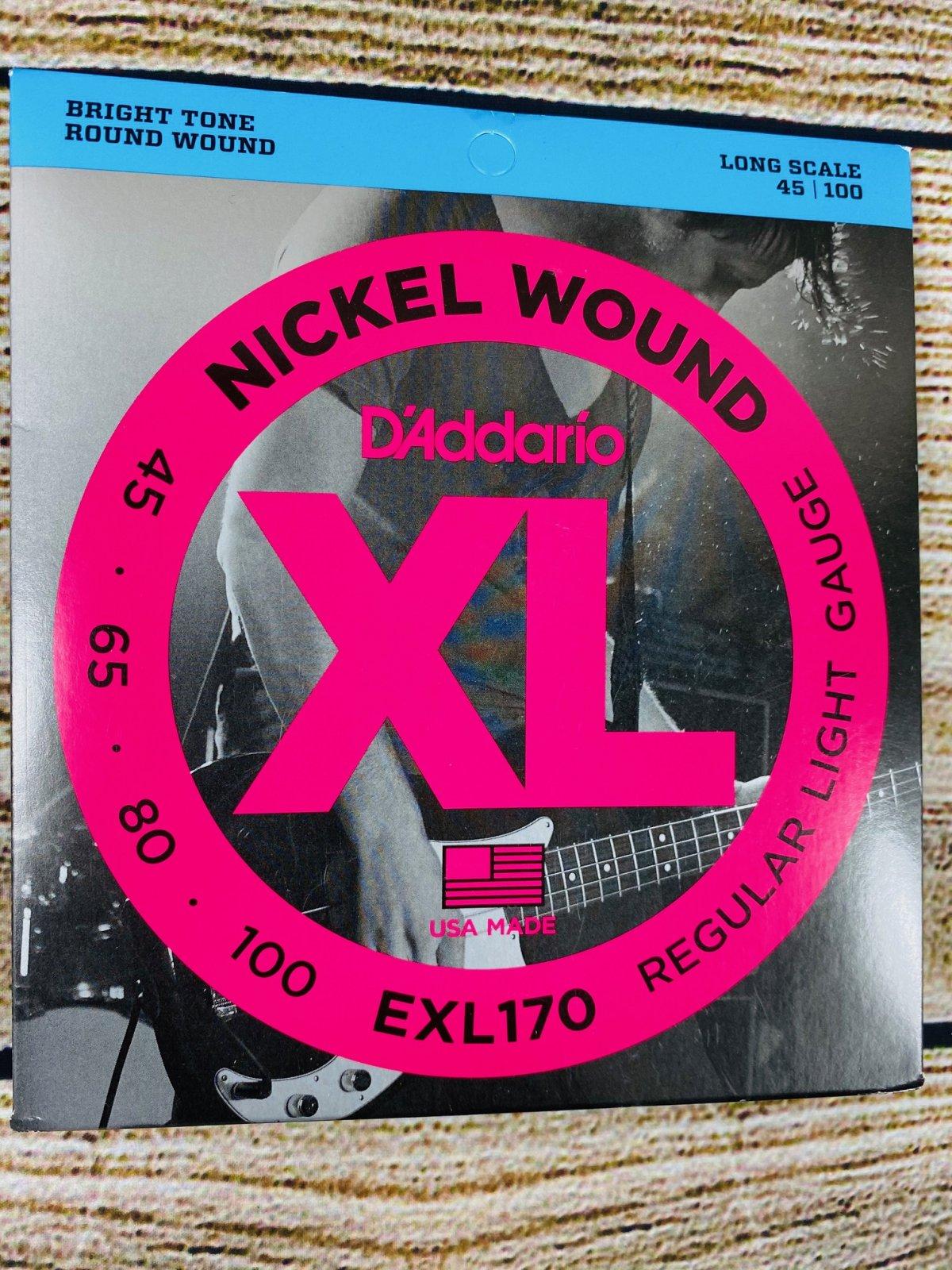 D'Addario EXL170 Regular Light Nickel Wound Long Scale Bass Strings - .045-.100