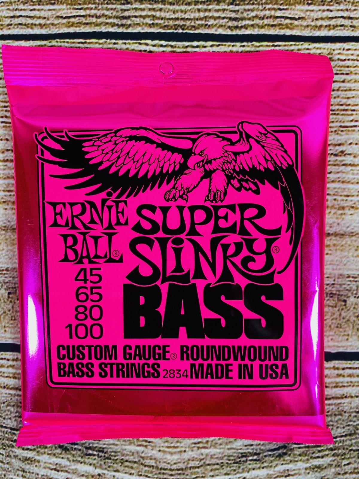 Ernie Ball 2834 Super Slinky Nickel Wound Electric Bass Strings - .045-.100